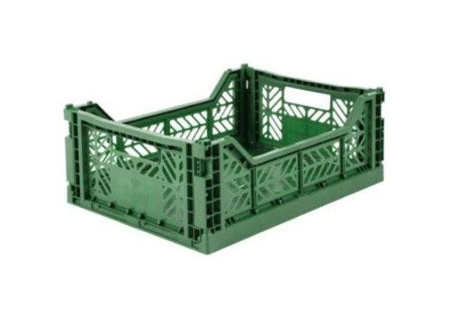 Eef Lillemor Lillemor Folding Crate Midi - dark green