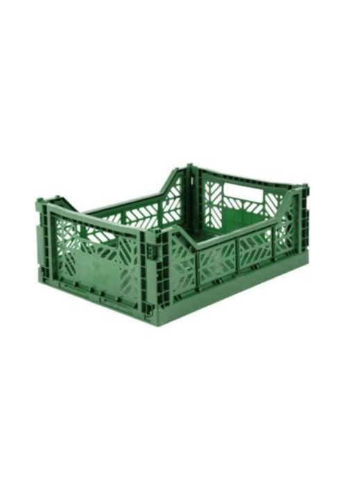 Eef Lillemor Lillemor Folding Crate Midi - dark green
