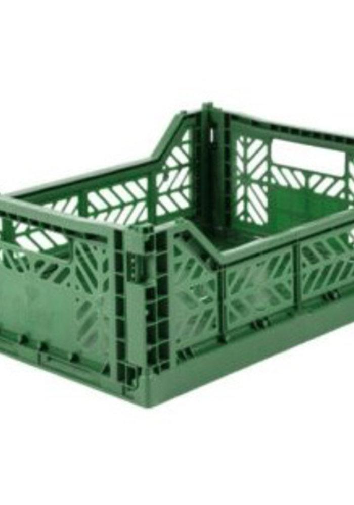 Lillemor Folding Crate Midi - dark green