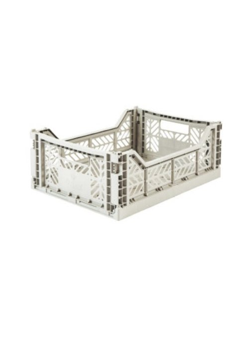 Eef Lillemor Lillemor Folding Crate Midi - light grey