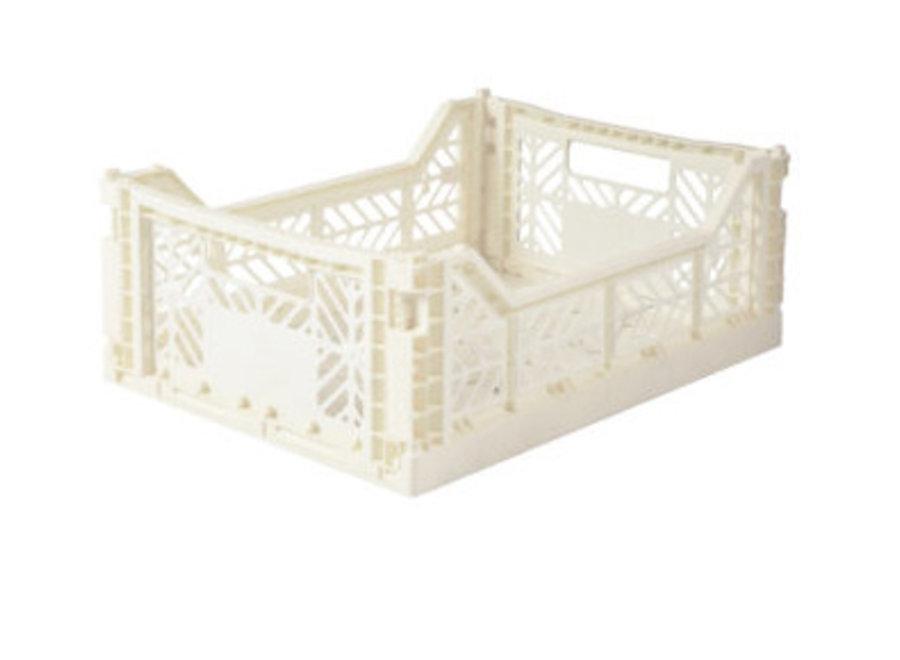 Lillemor Folding Crate Midi - coconut