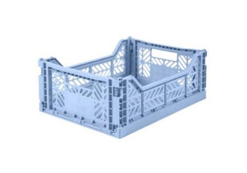 Eef Lillemor Lillemor Folding Crate Midi - baby blue