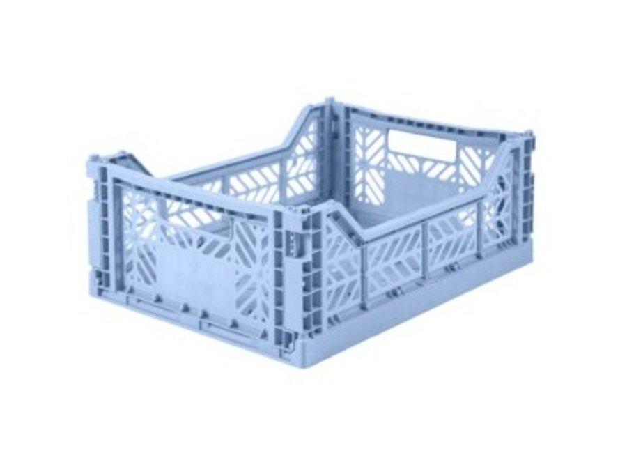 Lillemor Folding Crate Midi - baby blue