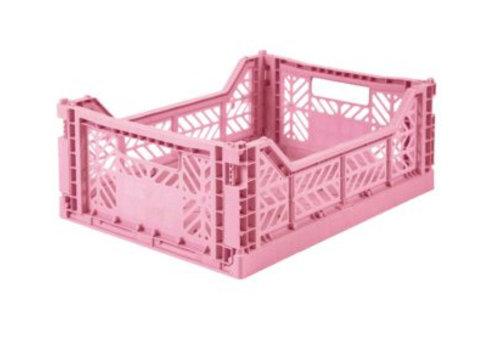 Eef Lillemor Lillemor Folding Crate Midi - baby pink