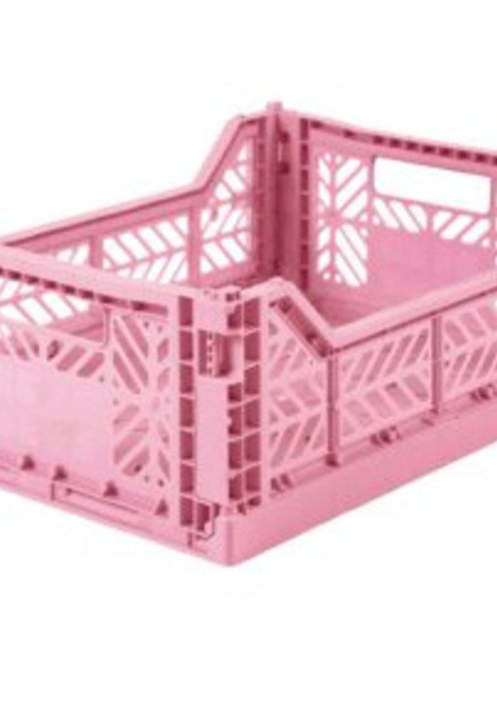 Lillemor Folding Crate Midi - baby pink