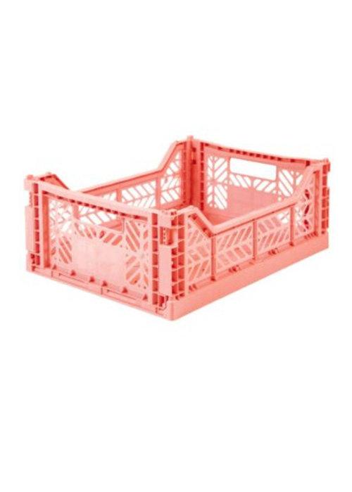 Eef Lillemor Lillemor Folding Crate Midi - salmon pink