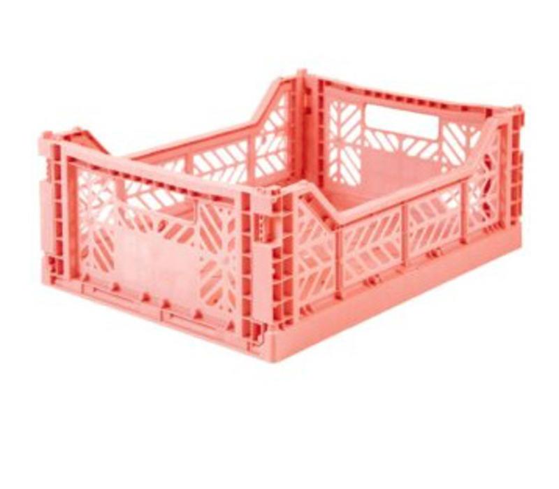 Lillemor Folding Crate Midi - salmon pink