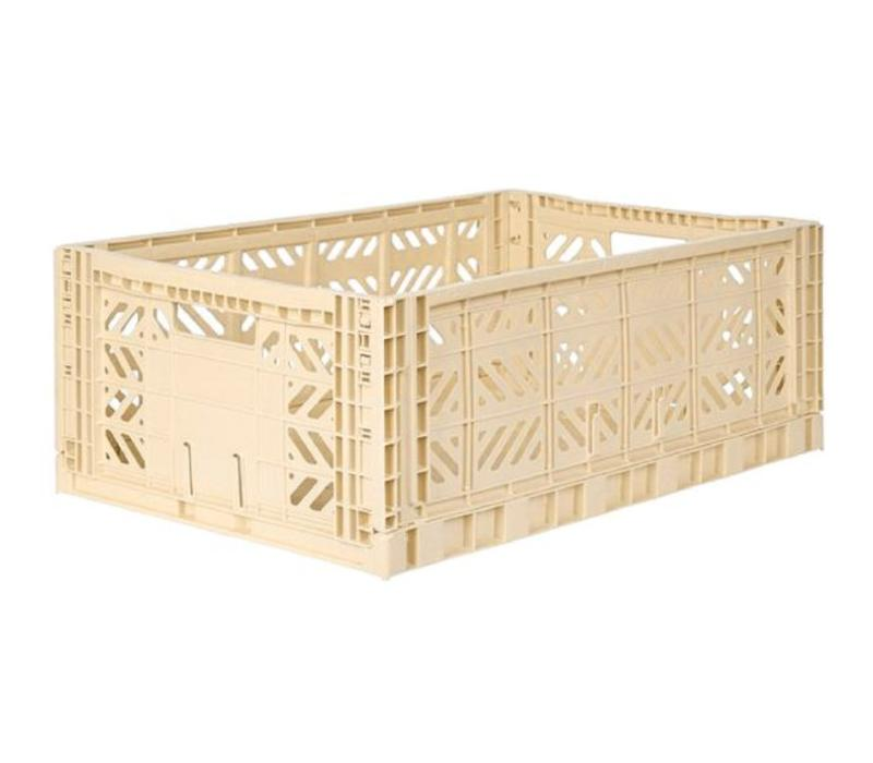 Lillemor Folding Crate Large - banana