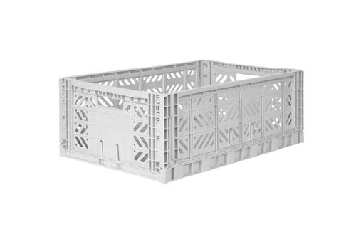 Eef Lillemor Lillemor Folding Crate Large - light grey