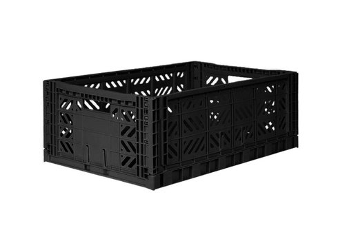 Eef Lillemor Lillemor Folding Crate Large - black