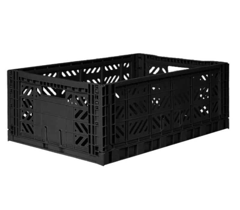 Lillemor Folding Crate Large - black