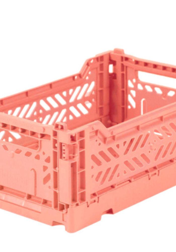 Lillemor Folding Crate  Mini - salmon pink