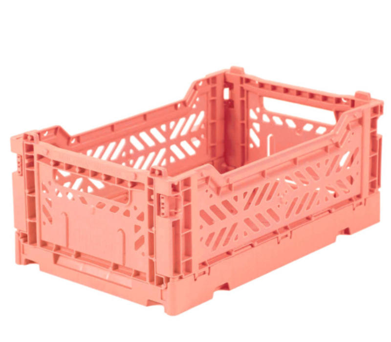 Lillemor Folding Crate  Mini - salmon pink