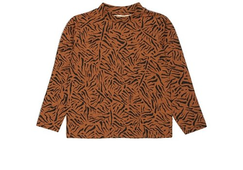 Soft Gallery Soft Gallery Belami LS T-Shirt Buckthorn Brown AOP Tigre Small