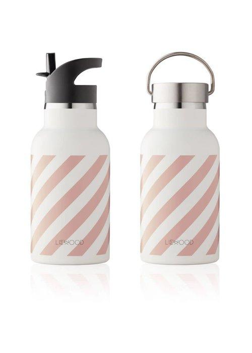 Liewood Liewood Anker Water Bottle - stripe rose creme de la creme