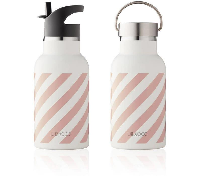 Liewood Anker Water Bottle - stripe rose creme de la creme