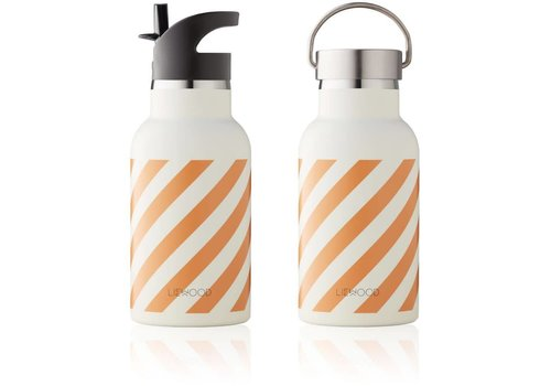 Liewood Liewood Anker Water Bottle - stripe mustard creme de la creme