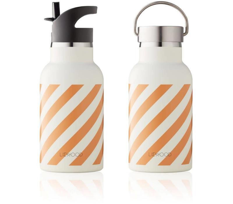 Liewood Anker Water Bottle - stripe mustard creme de la creme