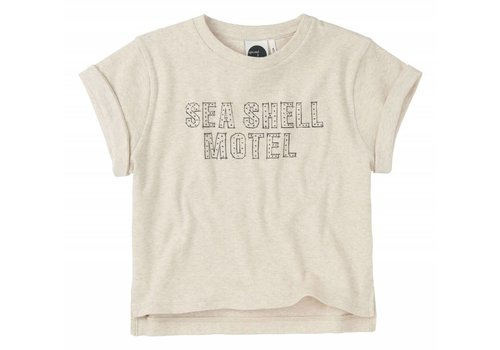 Sproet & Sprout Sproet & Sprout Boxy T-shirt Seashell Motel - shell melee