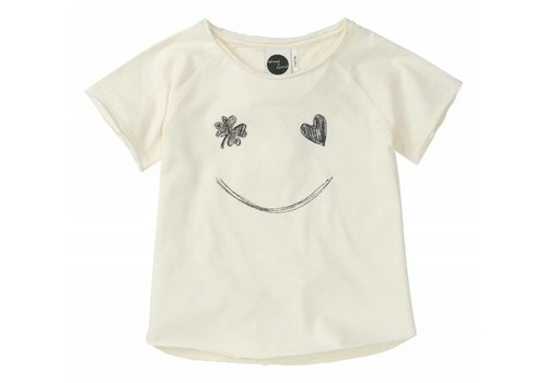 Sproet & Sprout Sproet & Sprout Raglan T-shirt Smile - summer white