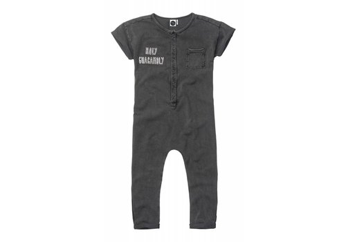 Sproet & Sprout Sproet & Sprout Onesie Holy Guacamoly - washed black