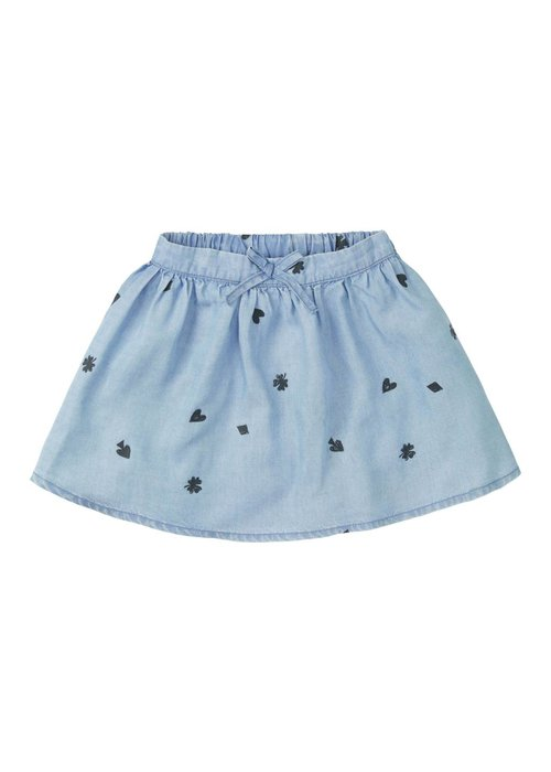 Sproet & Sprout Sproet & Sprout Skirt Playing Cards - vintage denim