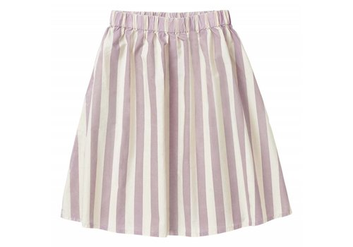 Sproet & Sprout Sproet & Sprout Long Skirt Stripe - shell & dusty violet