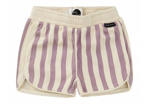 Sproet & Sprout Sproet & Sprout Sport short Stripe - shell & dusty violet