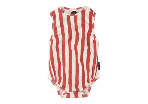Sproet & Sprout Sproet & Sprout Romper Loose Fit Stripe - summer white & red pepper