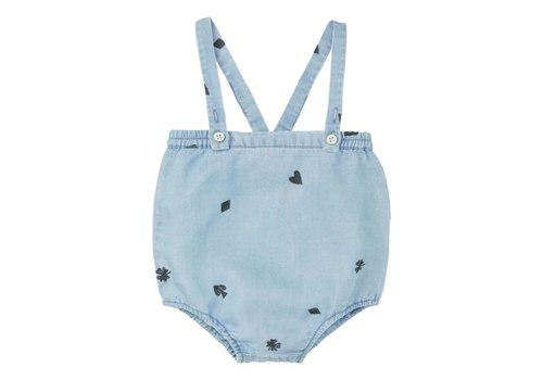 Sproet & Sprout Sproet & Sprout Romper Playing Cards - vintage denim