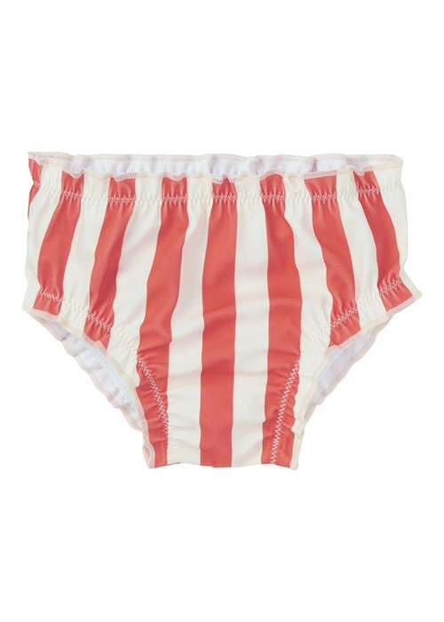 Sproet & Sprout Sproet & Sprout Swim Bloomers Stripe - summer white & red pepper