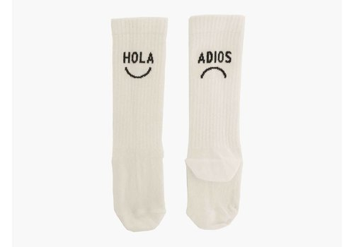 Sproet & Sprout Sproet & Sprout High Socks Hola Adios - summer white