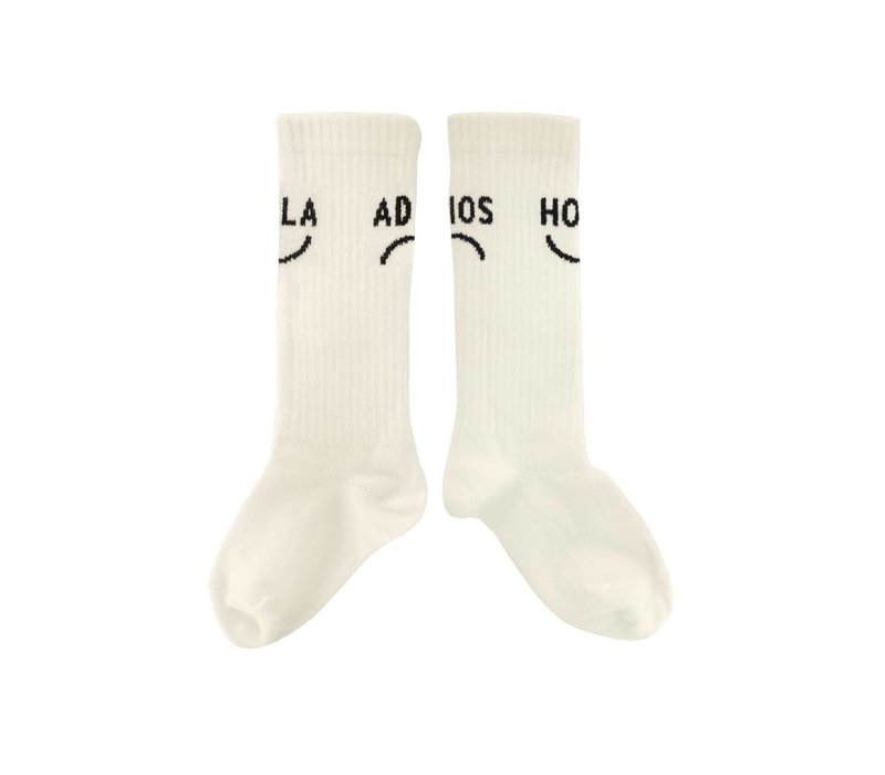 Sproet & Sprout High Socks Hola Adios - summer white