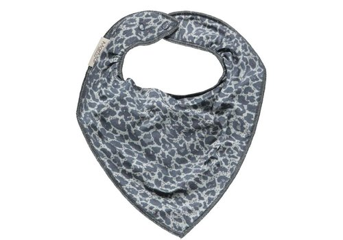 MarMar MarMar Baby Dry Bib shaded blue leopard