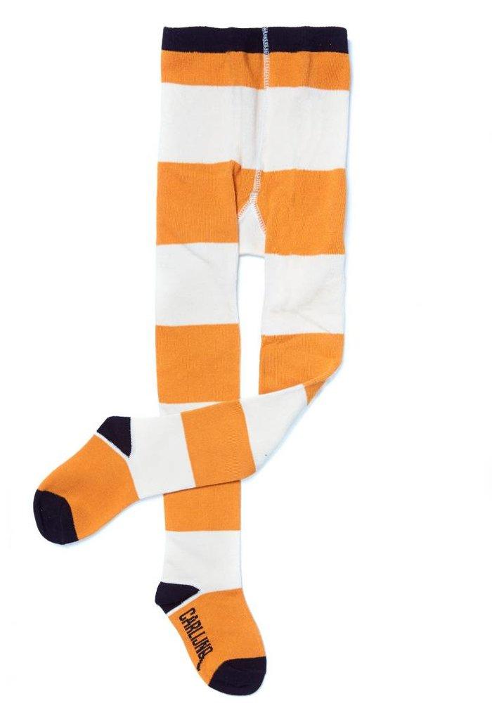 CarlijnQ Tights Big Stripes - yellow/off-white