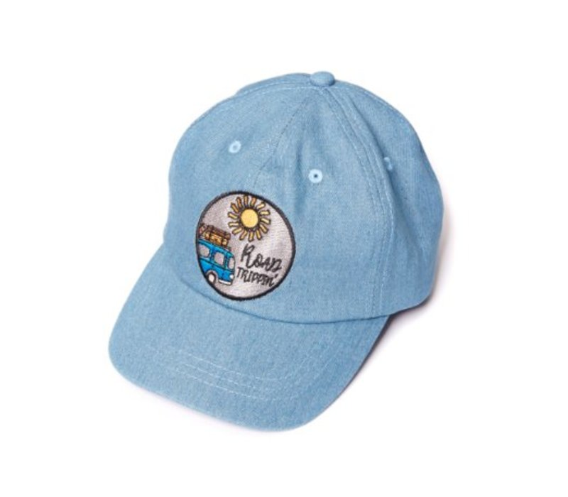 CarlijnQ Road Trippin' Cap - blue denim