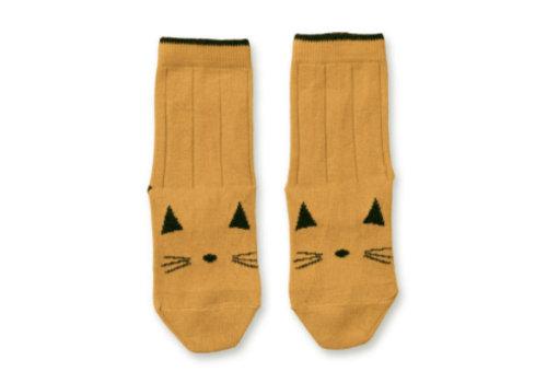 Liewood Liewood Silas Cotton Socks Cat Mustard