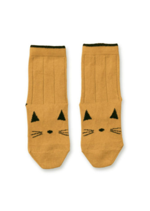 Liewood Liewood Silas Cotton Socks Cat Mustard