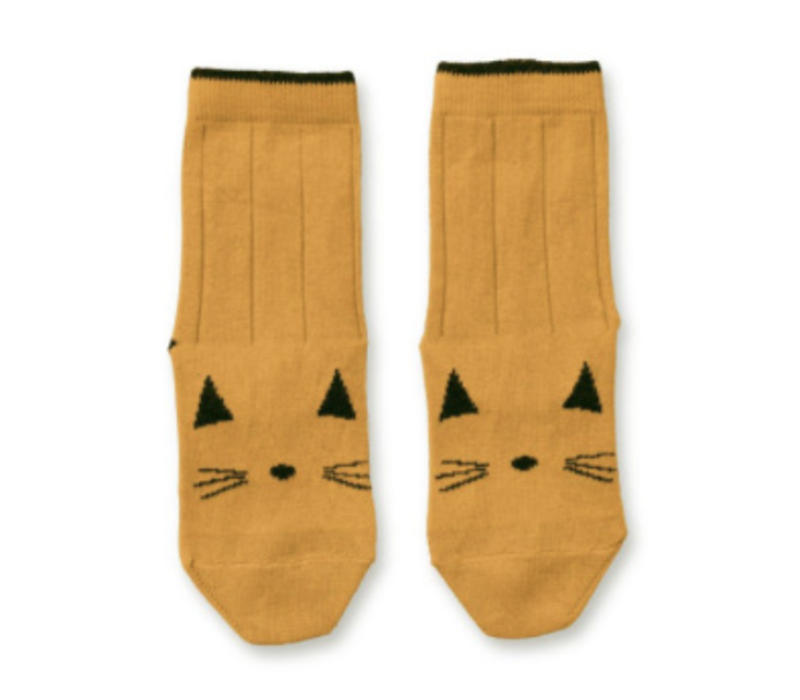 Liewood Silas Cotton Socks Cat Mustard