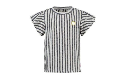 CKS CKS Lenore T-shirt Short Sleeve - clean blue/off white