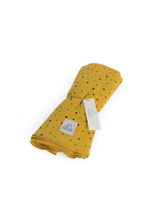 Nanami Nanami Swaddle 120x120cm Yellow Dot
