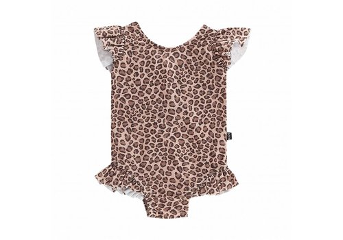 House of Jamie House of Jamie Ruffled Swimsuit Caramel Leopard