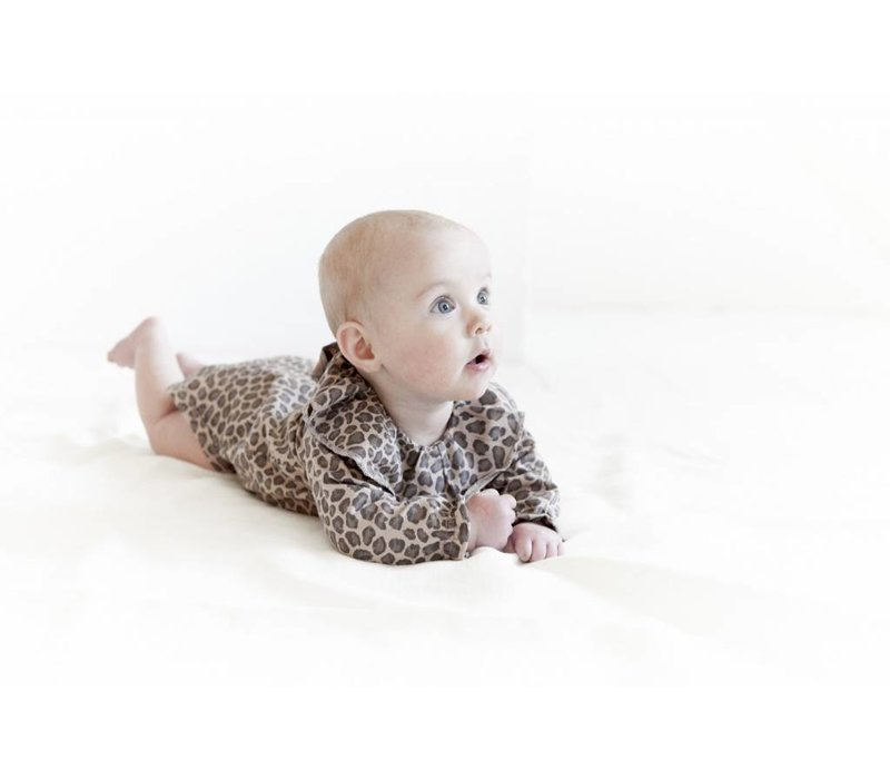 House of Jamie Pierot Bodysuit Caramel leopard