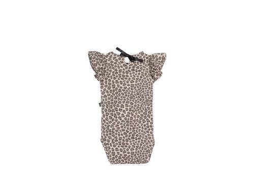 House of Jamie House of Jamie Ruffled Bodysuit Caramel Leopard