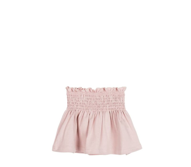 House of Jamie Smocked Skater Skirt Powder Pink