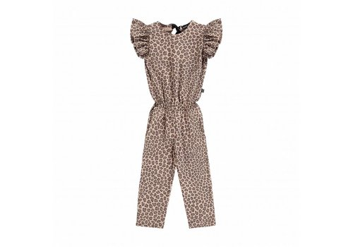 House of Jamie House of Jamie Ruffled Jumpsuit Caramel Leopard