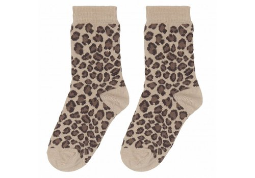 House of Jamie House of Jamie Socks Caramel Leopard