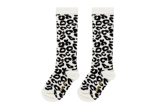 Maed for Mini Maed for Mini White Leopard Knee Socks