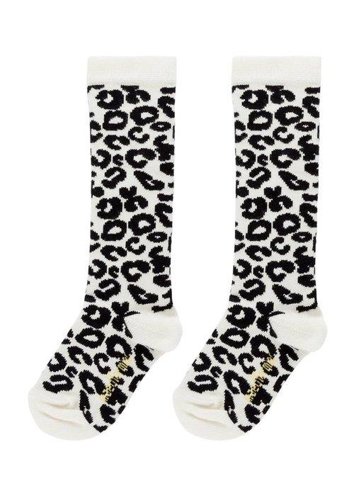 Maed for Mini Maed for Mini White Leopard Knee Socks