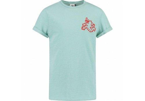 CKS CKS Yochim T-shirt Short Sleeve - deep aqua